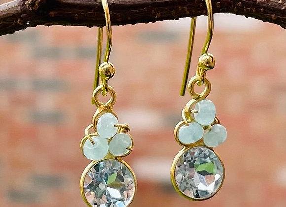 'Blowing Bubbles' 18k gilded silver earrings