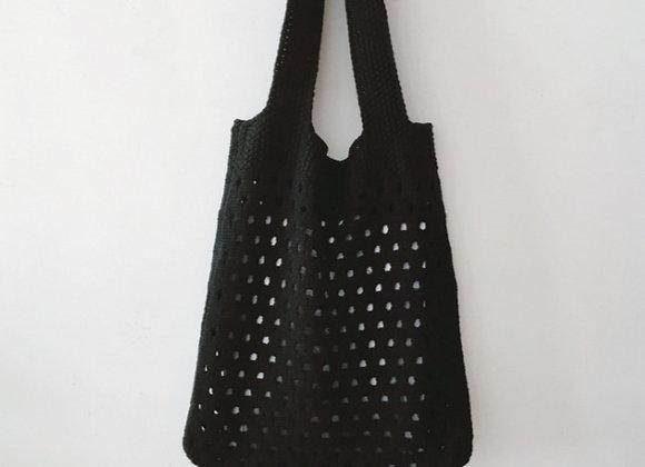Lightweight Knit Shopper Bag (black)