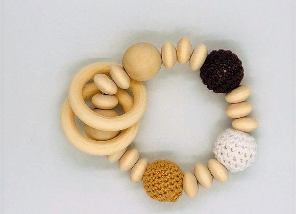 Infant Natural Wood Teething Ring (6 designs)