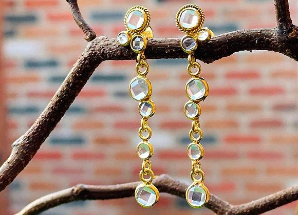 'Rock Chick' 18k gilded silver earrings