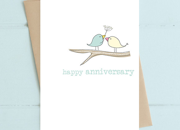 Happy Anniversary (Two Birds on Branch) Card
