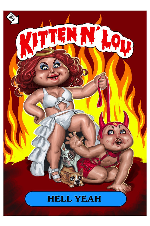 Kitten N' Lou Garbage Pail Kids Sticker