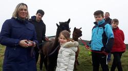 Joanne & family new year alpaca trek