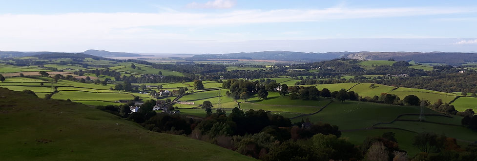 View over south Kendal, over towards Morecambe Bay