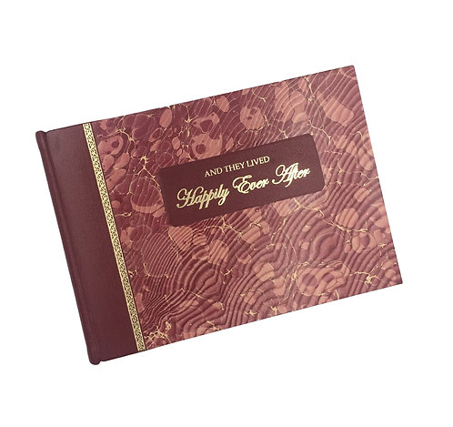 Handmade 1/4 Style Leather Wedding Guest Book