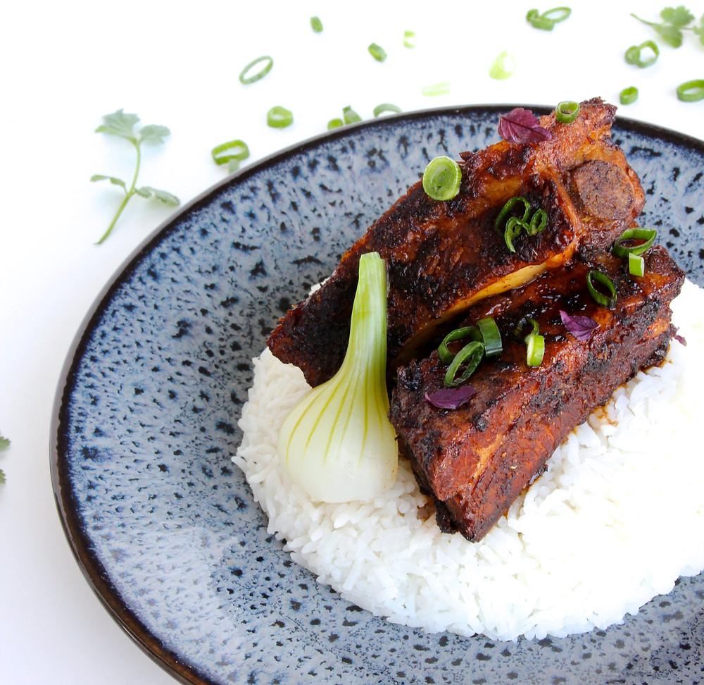 Travers de porc et riz parfumé Gingembre - Photo de Cassandre SUNG