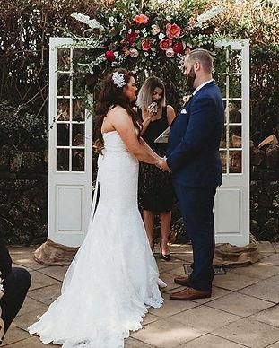 Ryan and Katelyn's wedding ceremony ❤️💍