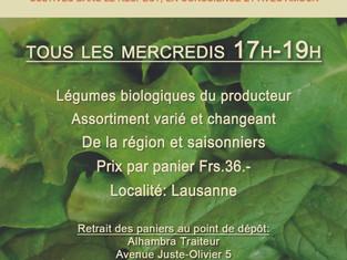 Pour votre santé: Panier de légumes bio à l'Alhambra