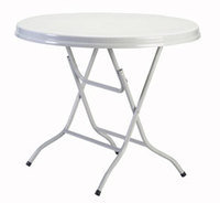 White Poly Folding Table