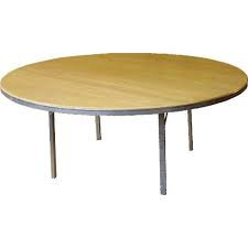 5ft Round Wooden Table