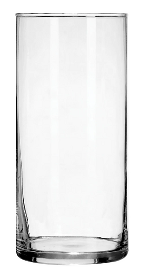 Clear Glass Cylinder Vases, 7.25 in.