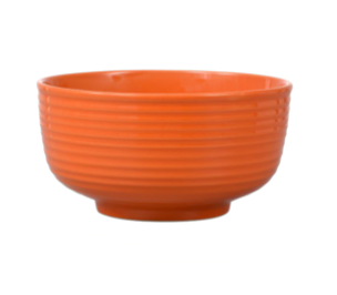 Orange Solid Stoneware Bowls, 6 in.