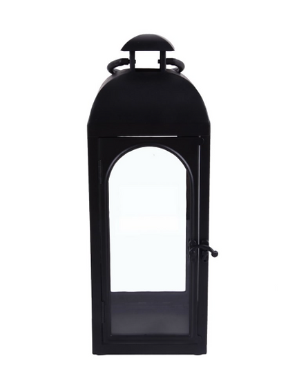 Metal Lantern, Black, Small