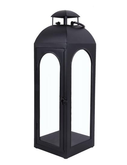 Metal Lantern, Black, Large