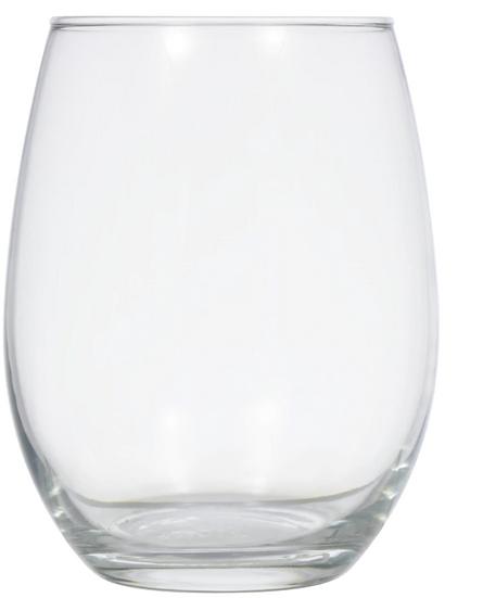 Simple Stemless Glass Wine Glasses, 20.5 oz.