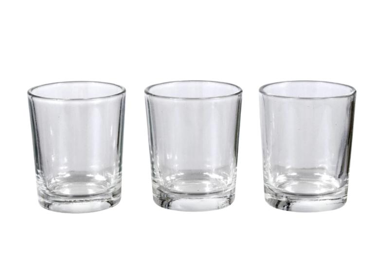 Clear Glass Tealight Candleholders