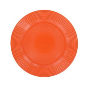 Orange Solid Stoneware Plates, 10.5 in.