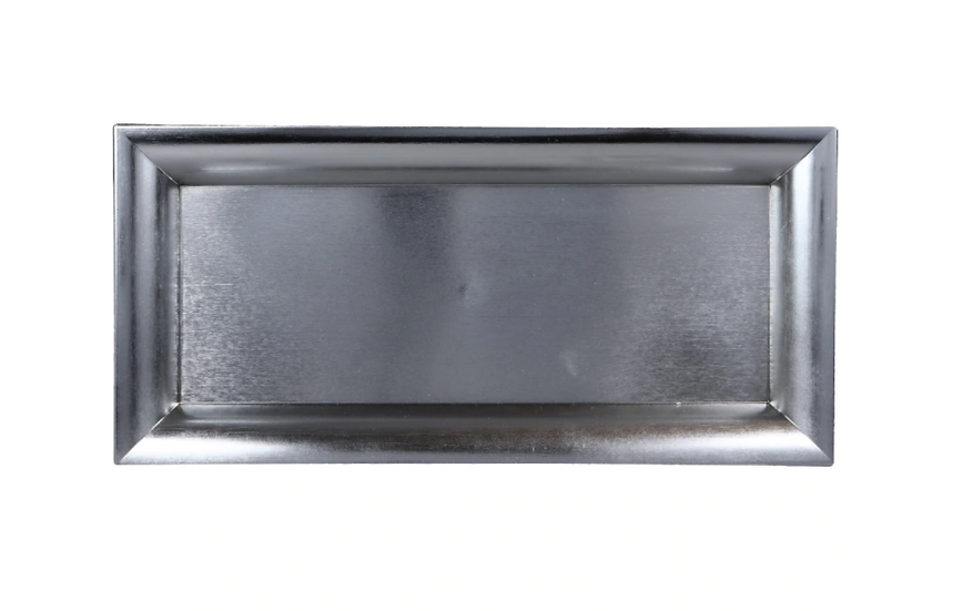 Rectangular Silver Charger Plates, 14.25 x 6.75 in.