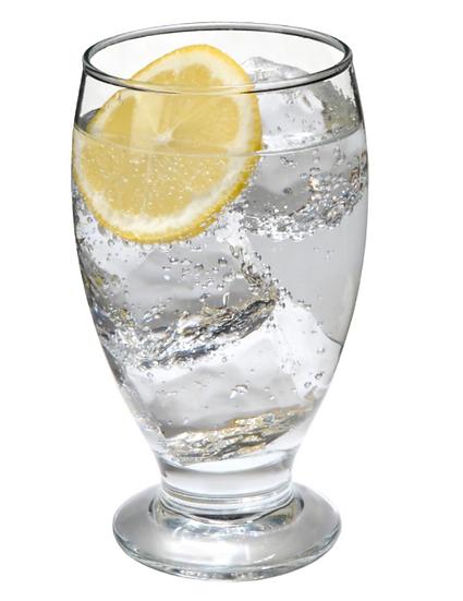 Short-Stem Clear Glass Goblets, 11.75 oz.