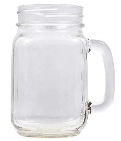 Glass Pint Jar Mugs, 16 oz.