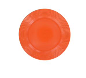 Orange Stoneware Side Plates, 7.5 in.