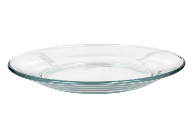 Clear Glass Side Plates, 7.5 in.