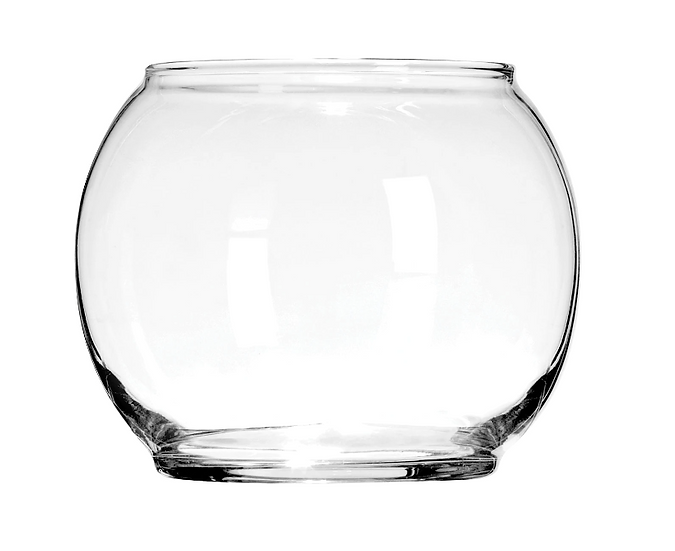Clear Round Glass Floral Bowls, 4.875 in.