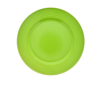 Lime-Green Solid Stoneware Plates, 10.5 in.