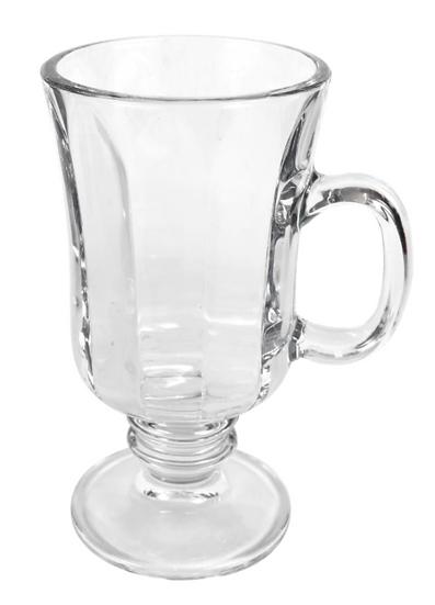 Clear Glass Irish Coffee Mugs, 8 oz.