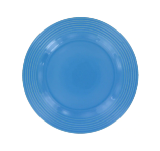 Peacock Blue Solid Stoneware Plates, 10.5 in.