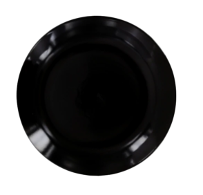 Black Stoneware Side Plates, 7.5 in.