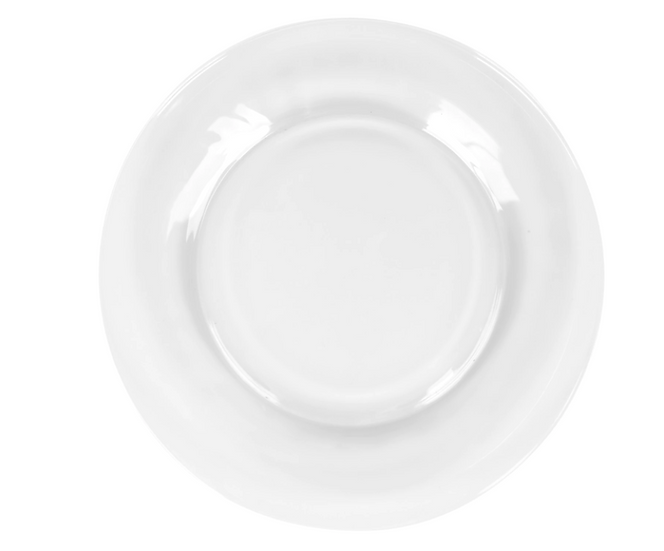 Clear Glass Dinner Plates, 10.5 in.
