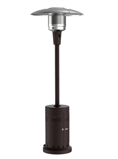 Large Outdoor Patio Heater, Powder Coat Brown