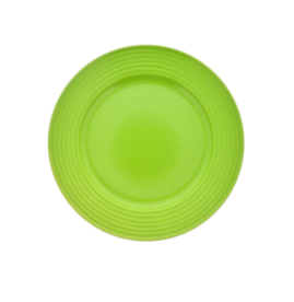 Lime-Green Solid Stoneware Side Plates, 7.5 in.