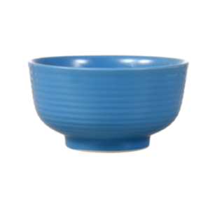 Peacock Blue Solid Stoneware Bowls, 6 in.