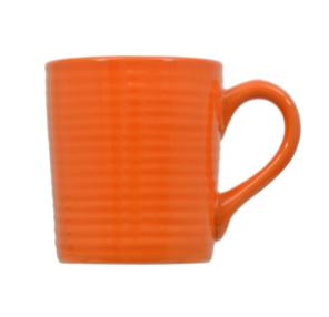 Orange Solid Stoneware Mugs, 12 oz.