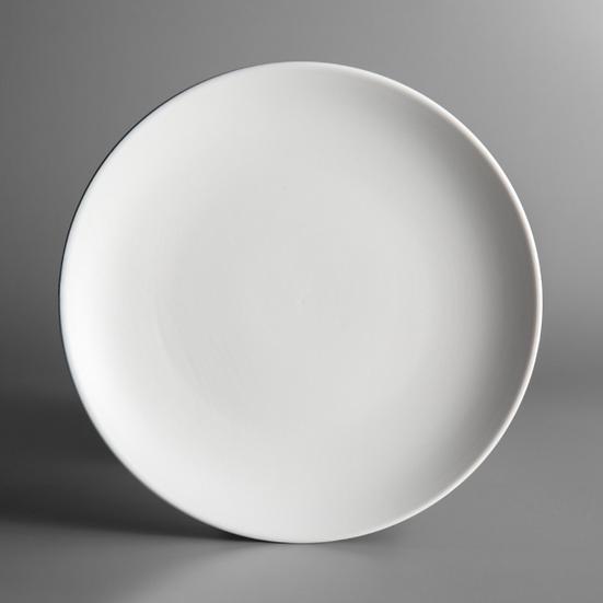 """7 1/4"""" Matte White Stoneware Coupe Plate"""