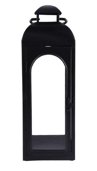 Metal Lantern, Black, Medium