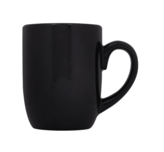 Black Stoneware Mugs, 12 oz.