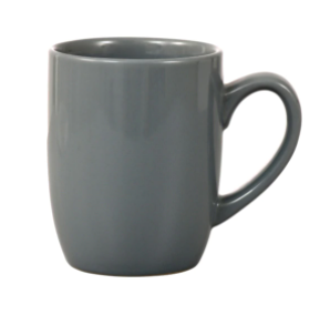 Gray Stoneware Mugs, 12 oz.