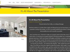 Project featured on Allan Fuller Estate Agents website!