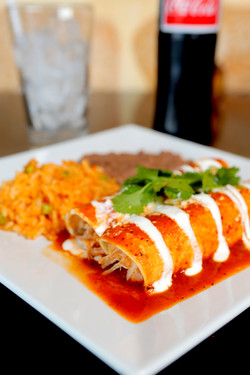 lunch enchiladas
