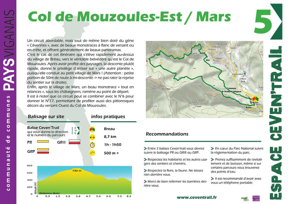 5- Col de Mouzoules Est – Mars