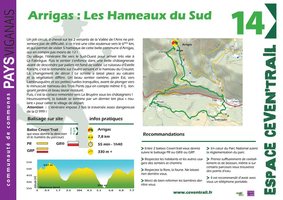 14- Arrigas Sud - Le Crouzet – Lambrusquière
