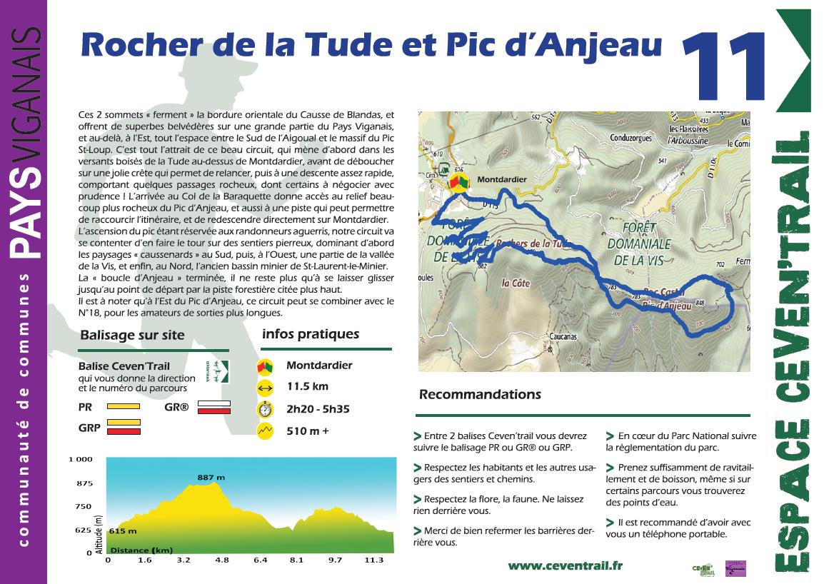 11- Rocher de la Tude et Pic d'Anjeau