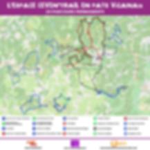 Carte des parcours de l'Espace Ceven'Trail