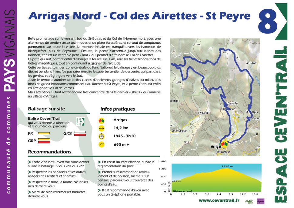 8- Arrigas Nord - Col des Airettes - St Peyre