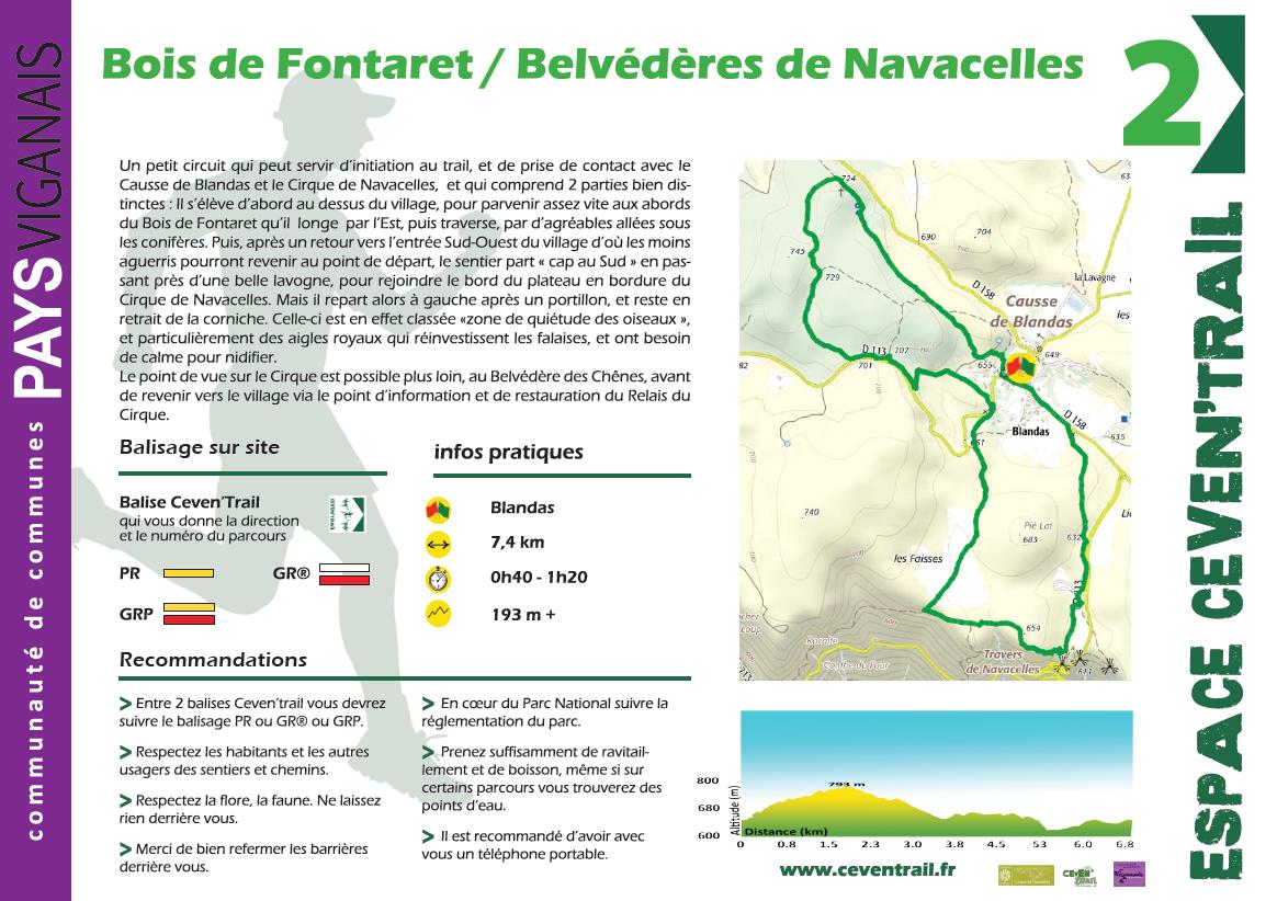 2- Bois de Fontaret et Belvédères de Navacelles