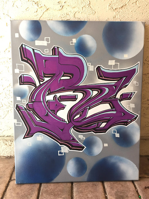 Letter R canvas