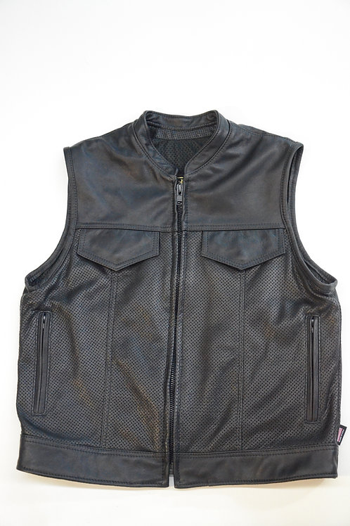396P - Mens Leather Vest